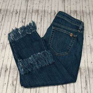 Joe's Ex-Lover Distressed Crop Jeans with …